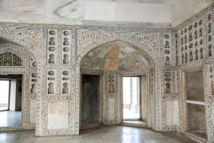 Indie Agra Fort marmury
