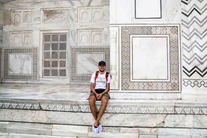 Indie Agra Taj Mahal marmury
