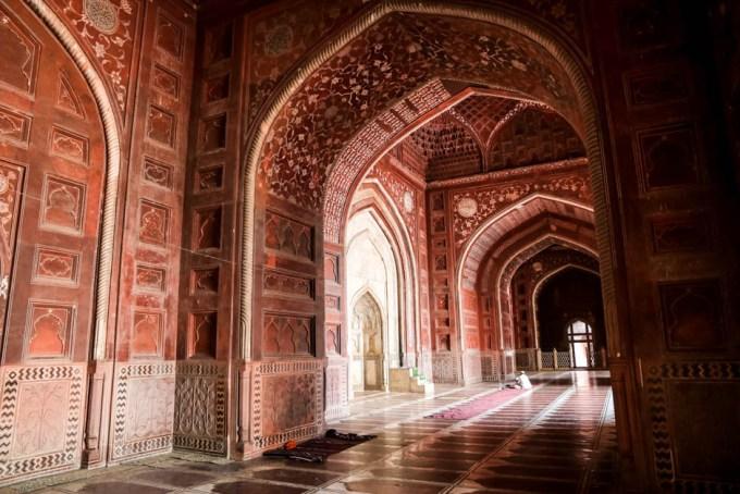 Indie Agra Taj Mahal meczet