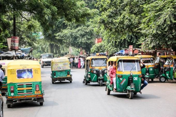 Indie Agra tuk-tuki