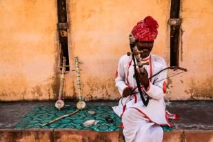 Indie Jaipur Fort Amber grajek