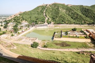 Indie Jaipur Fort Amber panorama