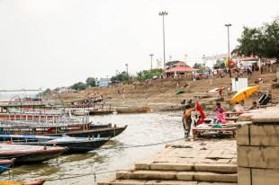 Indie Waranasi rzeka Ganges