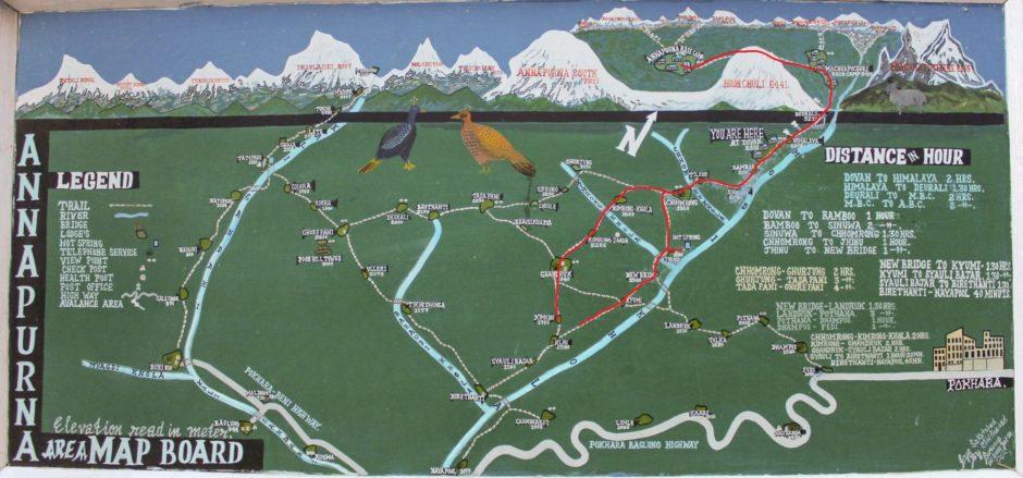 Mapka trekking ABC