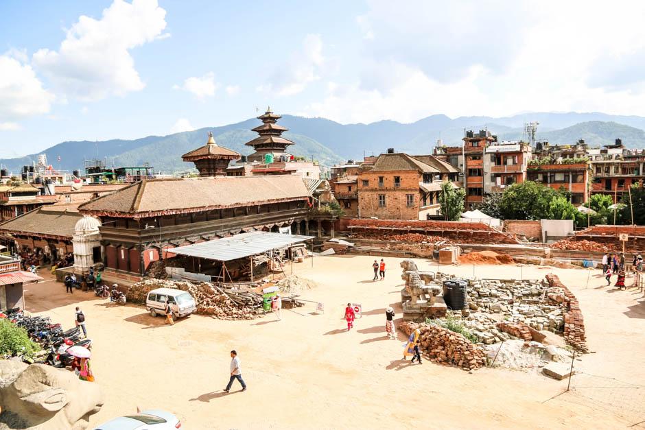 Nepal Bhaktaphur panorama
