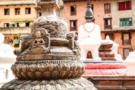 Nepal Kathamandu posągi Buddy