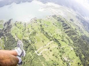 Nepal Pokhara lot paralotnią nad jeziorem Fewa Lake