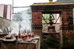 Nepal Pokhara świątynia na środku jeziora 2