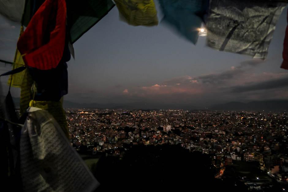 Nepal panorama Katmandu z Swayambhunath
