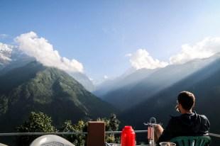 Nepal trekking do ABC śniadanie w Chhomrong 2