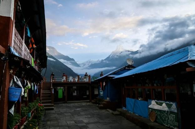 Nepal trekking do ABC widoki z Chhomrong