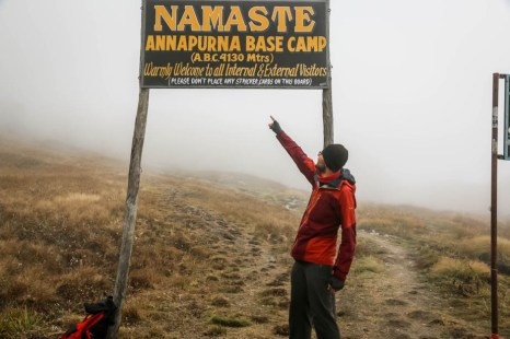 Nepal trekking przed Annapurna Base Camp