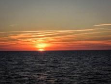 Zachód słońca na trasie z Bornholmu do Kołobrzegu 2
