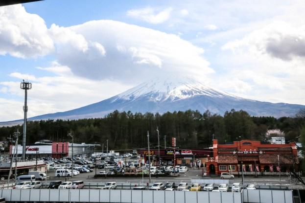 Fuji widok z onsenu