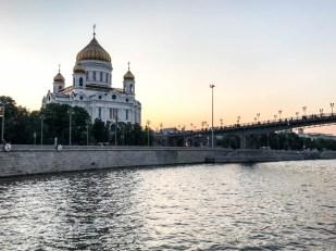 Rejs łodzią po rzece Moskwa Sobór