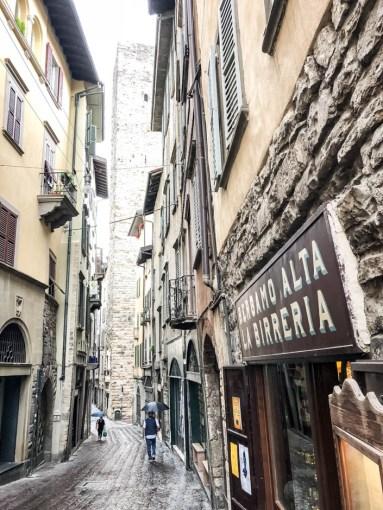 Uliczki starego Bergamo