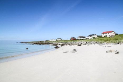 Biały piasek na plaży Ramberg