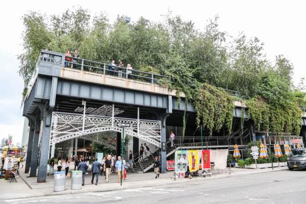 High Line z dołu
