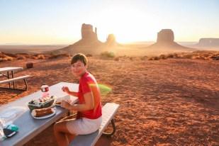 Monument Valley śniadanie