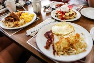 USA śniadanie w Denny's
