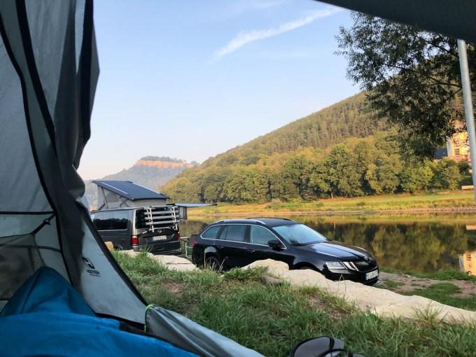 Pobudka na campingu Konigstein