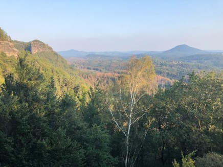 Widok z Bramy Pravčickiej