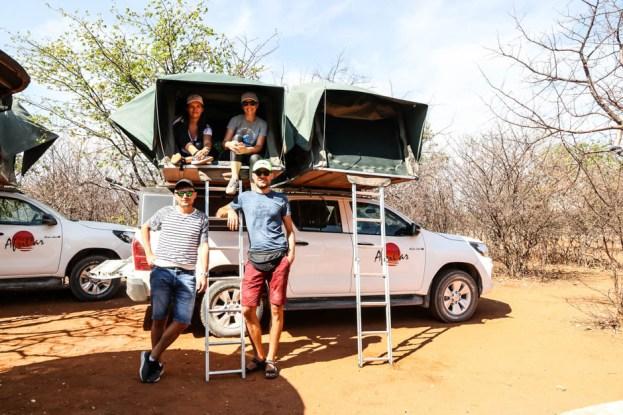 Na kempingu na farmie gepardów Namibia