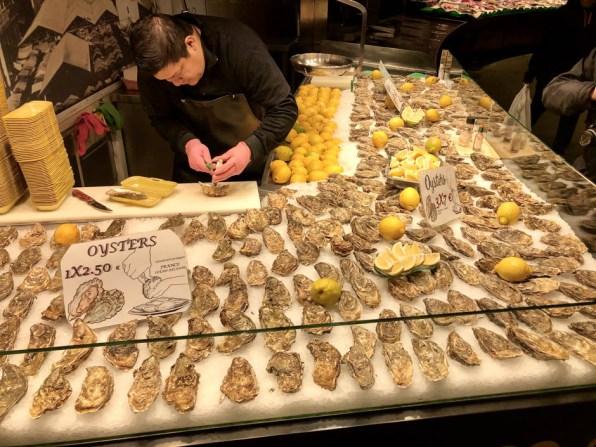 Ostrygi w La Bogueria