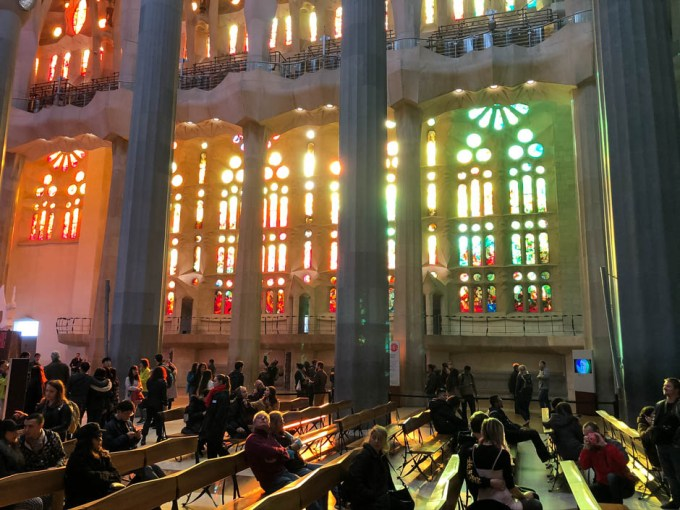 Sagrada Familia Barcelona witraże