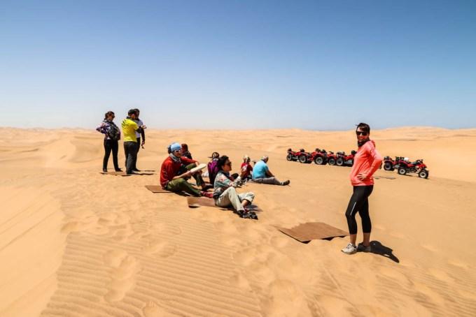 Sandboarding Swakopmund odpoczynek