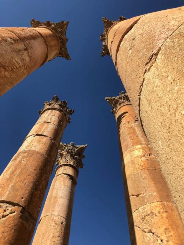Jerash kolumny świątynia Artemidy