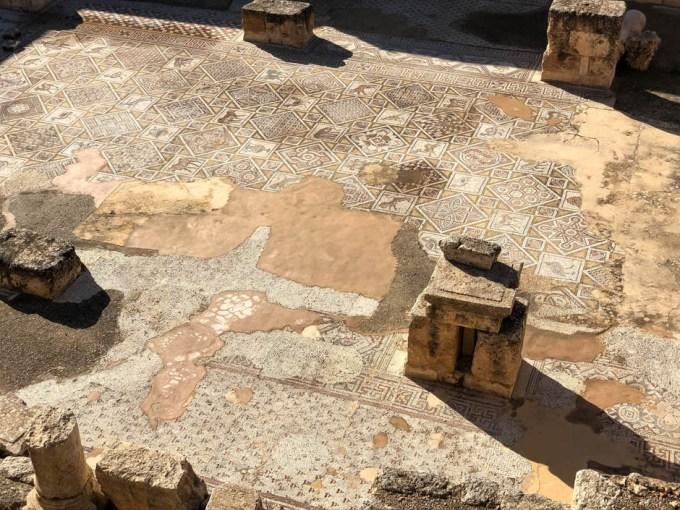 Jerash kościół bizantyjski mozaiki