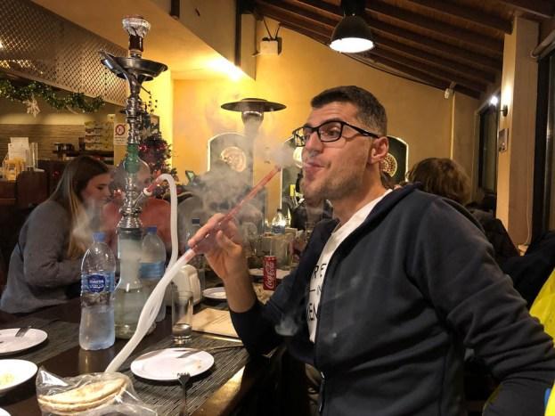 Wieczorna szisza i piwko w Madaba