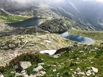 Dolina Pięciu Stawów Spiskich z góry