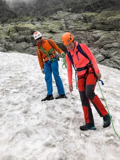 Gerlach Tatry Słowackie płaty śniegu