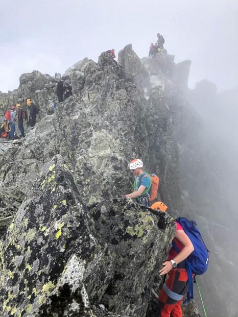 Grań przed szczytem Gerlacha Tatry Słowackie