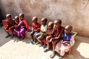 Tanzania wioska Masajow dzieci w szkole