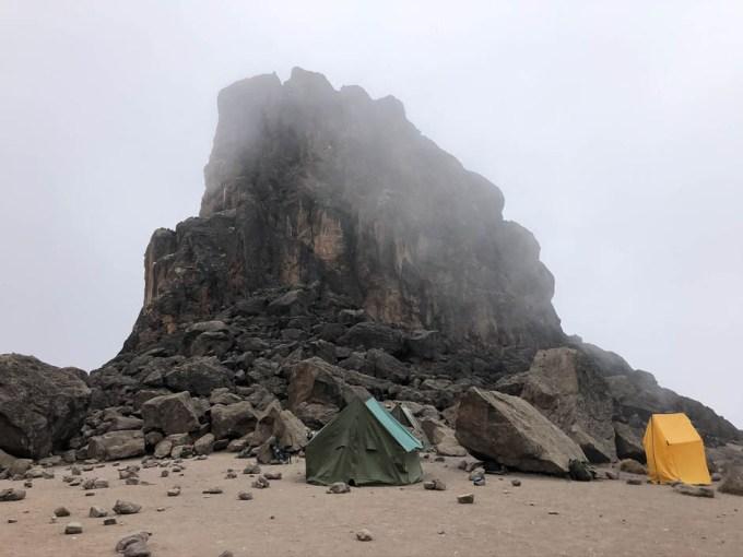 Trasa Machame lava tower