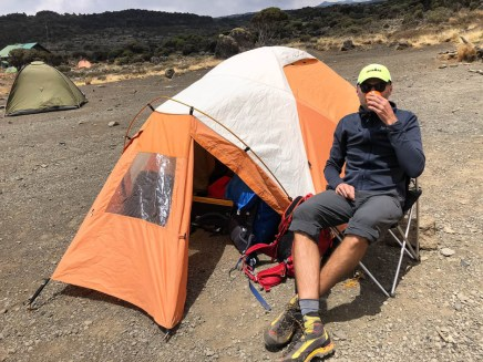 Trekking Kili namiot shira camp