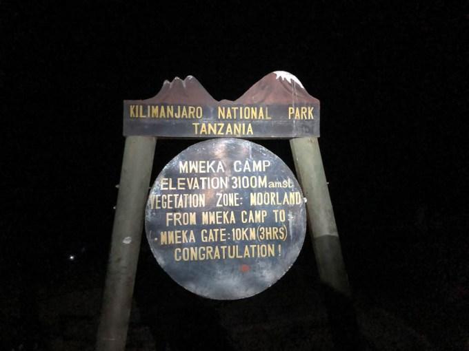 Trekking Kilimandzaro mweka camp