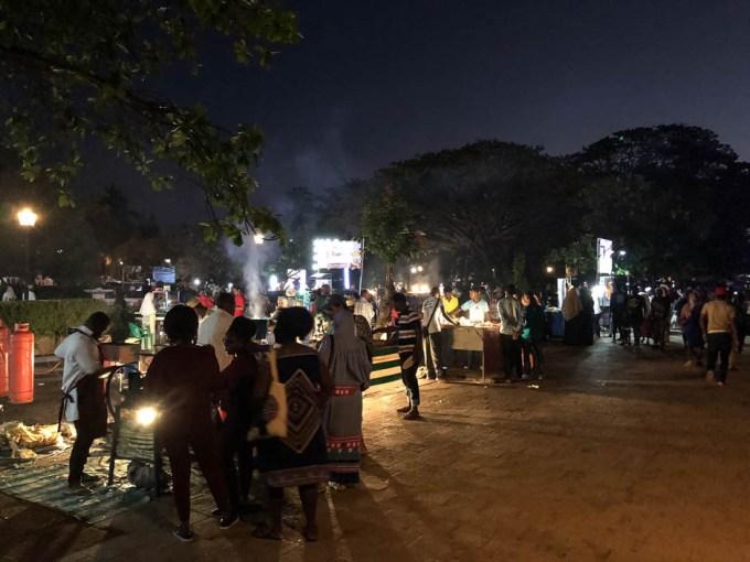 Zanzibar nocny targ z jedzeniem