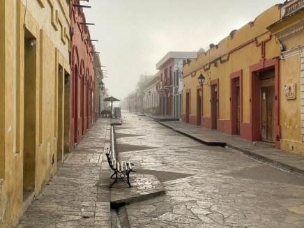 San Cristóbal de las Casas chmura o poranku
