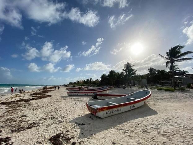Tulum łódka plaża