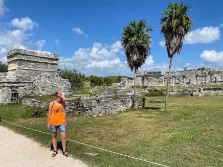 Tulum ruiny i iguana
