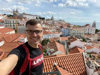 Potugalia Lizbona Miradouro das Portas do Sol