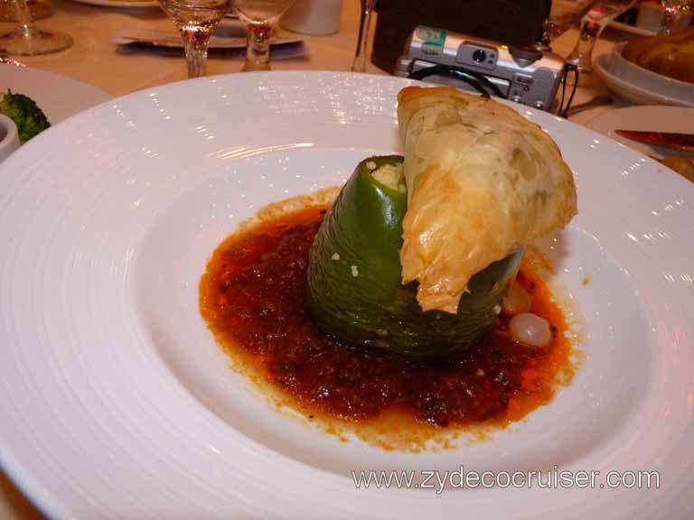 Carnival Dream Spanakopita And Stuffed Bell Pepper Vegetarian