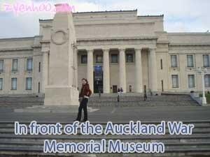 In front of the Auckland War Memorial Museum