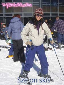 Sze on skis