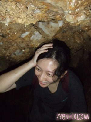 Ow! I hit my head on a stalactite!