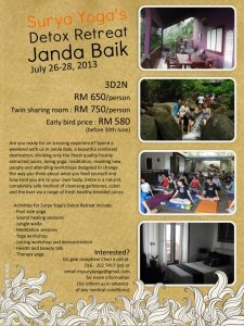 Detox retreat to Janda Baik